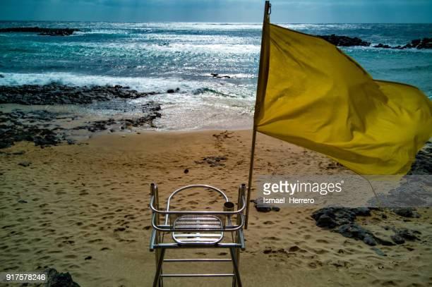 Life guard chair. Punta Jablillo (Lanzarote)