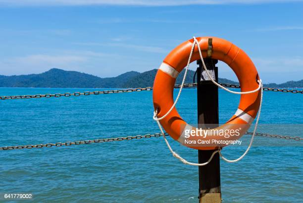 Life guard Ring Buoy with sea view