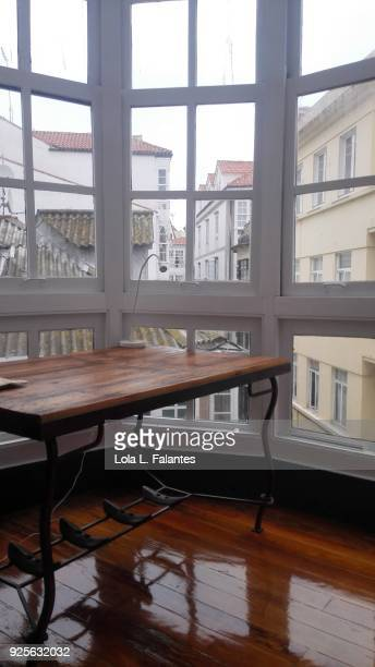 Life in a house, windows and table