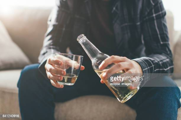 life in bottle... - binge drinking stock photos and pictures