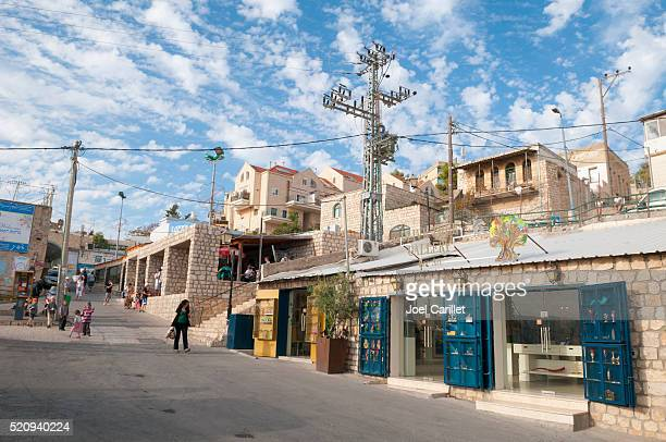 life in safed, israel - safed stock photos and pictures