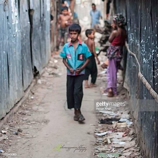 Life in the slum Korail Slum, Dhaka, Bangladesh
