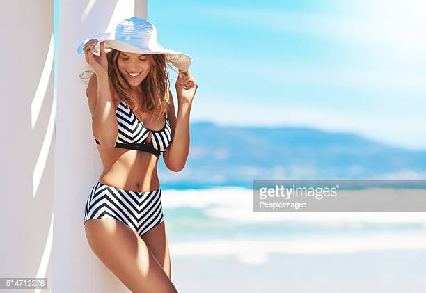 life is better in a bikini - swimwear stock photos and pictures