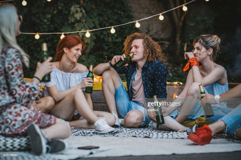 Life is better when shared with friends : Stock Photo
