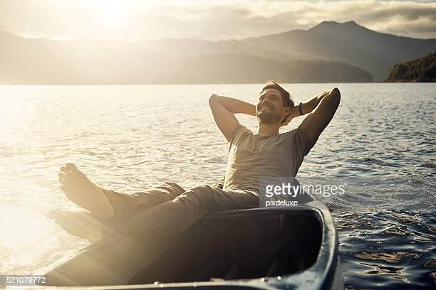 life is good - small boat stock pictures, royalty-free photos & images