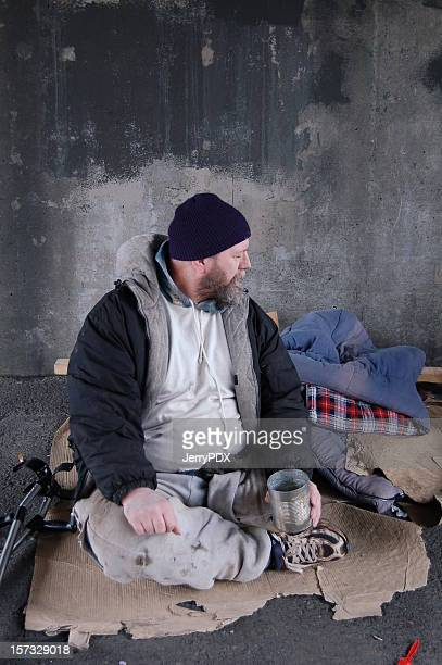 life of poverty - homeless veterans stock photos and pictures