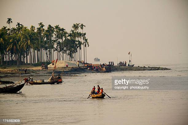 life of riverside - bangladesh nature stock photos and pictures