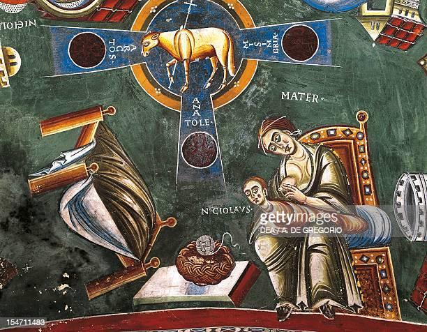 Life of St Nicholas of Bari detail from a cycle of frescoes St Eldrado chapel Novalesa Abbey Italy 11th century