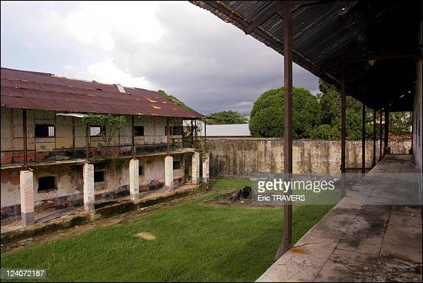 Life on the Maroni river In French Guiana On August 19, 2002 - Camp of Transportation : View of the forced labor camp building from the sentry path.