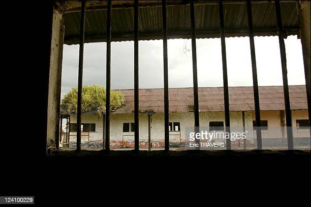 Life on the Maroni river In French Guiana On August 19, 2002 - Camp of Transportation : View of the forced labor camp building from a cell.