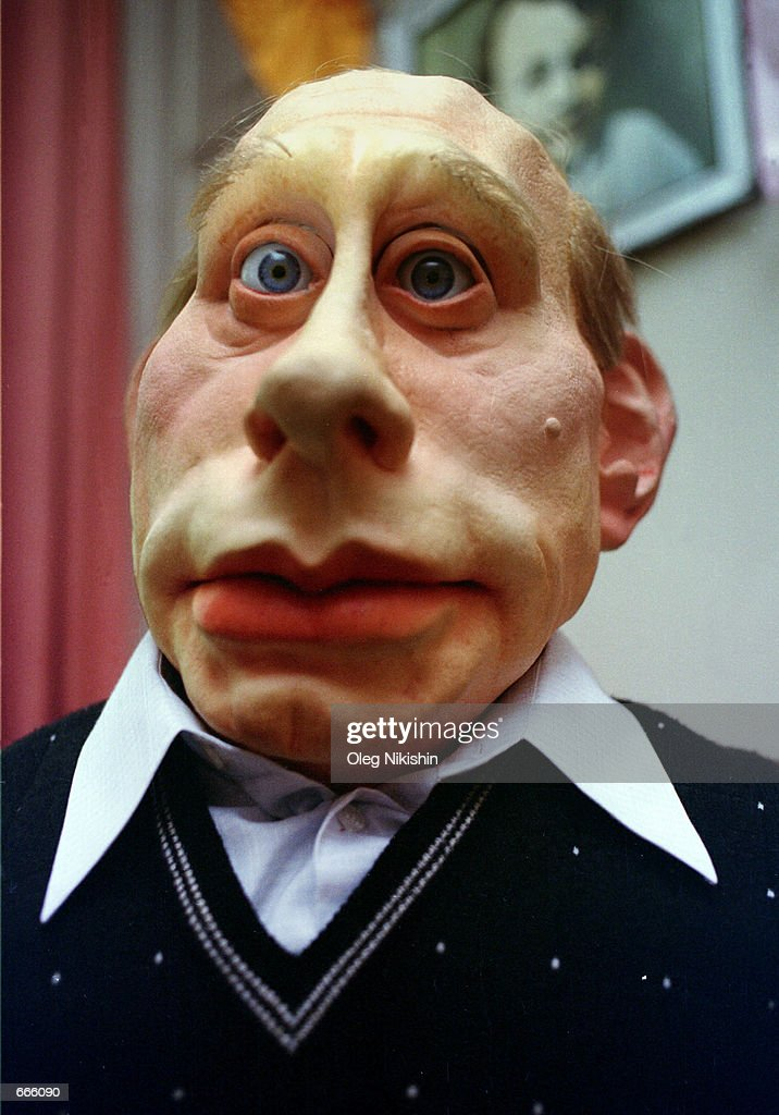 "Life size puppets of Russian political leaders ""Kukly"" : News Photo"