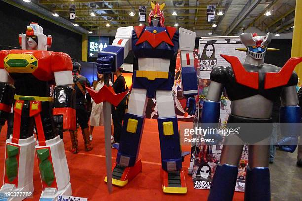 A life size replica of DAIMOS VOLTES V MAZINGER Z a popular anime cartoons during the 70's were being displayed at the COMICON event