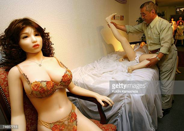 Life size sex dolls are displayed at Orient Industry's showroom on June 16 2007 in Tokyo Japan Orient Industry mark the 30th anniversary of producing...