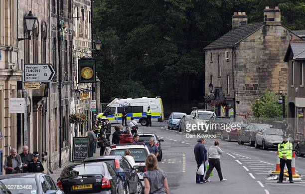 Life slowly begins to return to normal despite several road closures in Rothbury where Raoul Moat who had evaded police capture for seven days, shot...