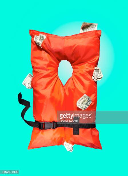 Life Vest stuffed with Money