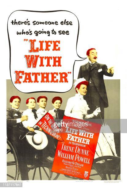 Life With Father poster US poster far right Irene Dunne William Powell 1947