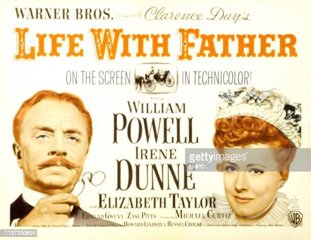 Life With Father, poster, William Powell, Irene Dunne, 1947.
