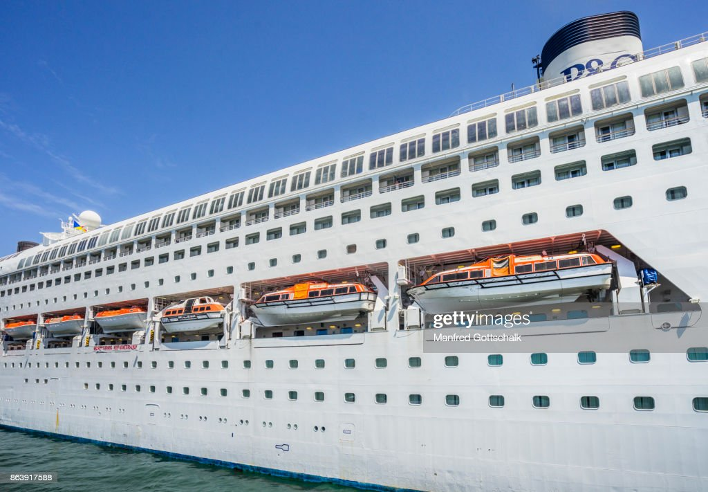 Lifeboat And Tender Fleet Cruise Ship Pacific Jewel Stock Photo - Cruise ship pacific