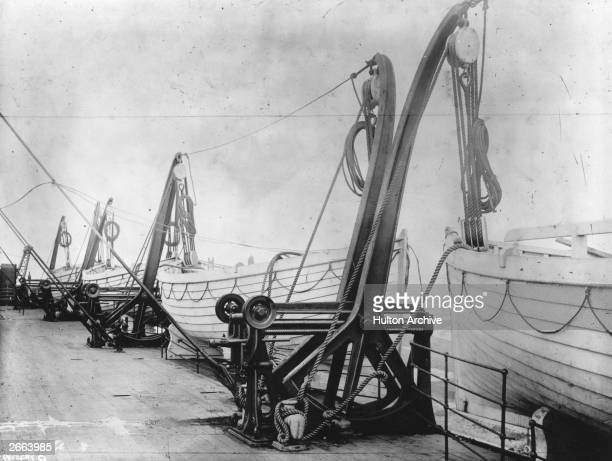 Lifeboats on board the SS Titanic When the liner sank in the Atlantic after hitting an iceberg there were only enough lifeboats on board to hold a...