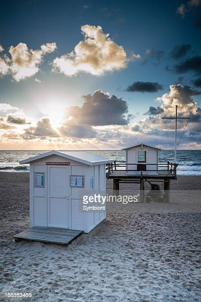 Lifeguard house at the beach of Westerland