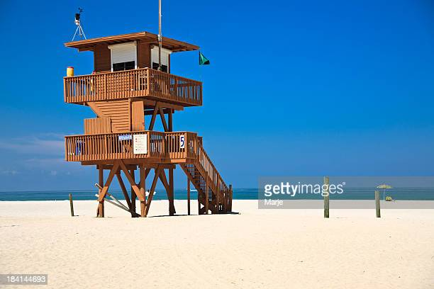 lifeguard hut - sarasota stock photos and pictures