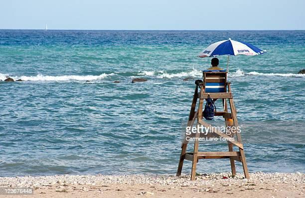 Lifeguard in beach of Altea