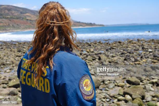 Lifeguard Keeps Watch