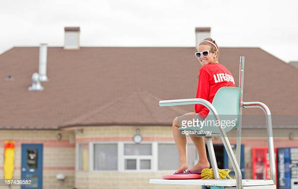 lifeguard on duty - lifeguard stock pictures, royalty-free photos & images