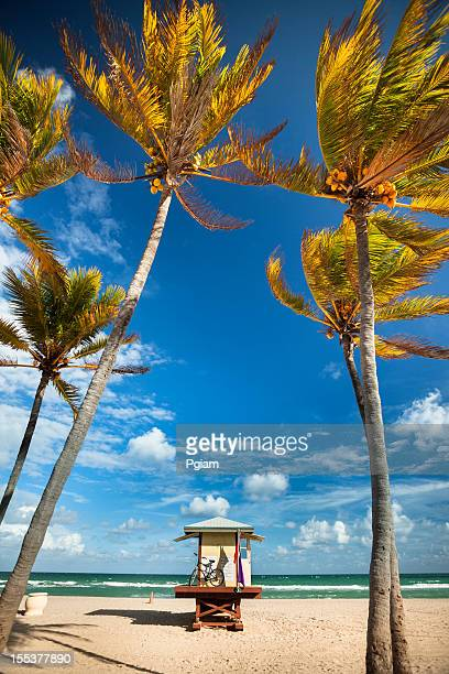 Lifeguard post in Fort Lauderdale Miami Florida