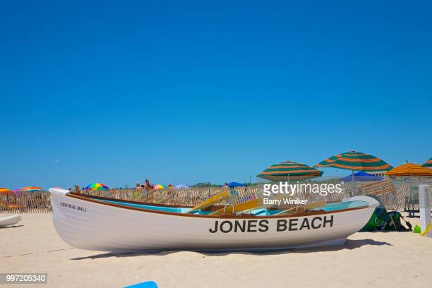 lifeguard rescue boat at jones beach, ny - wantagh stock pictures, royalty-free photos & images