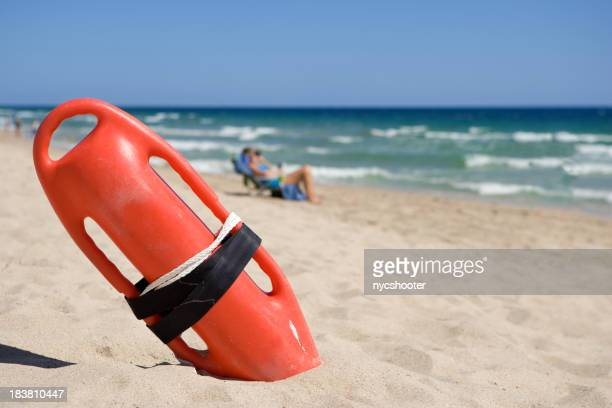 Lifeguard Rescue can on beach