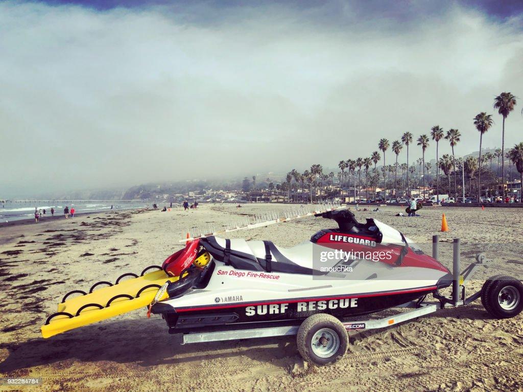 Lifeguard Rescue On La Jolla Beach California Usa Stock