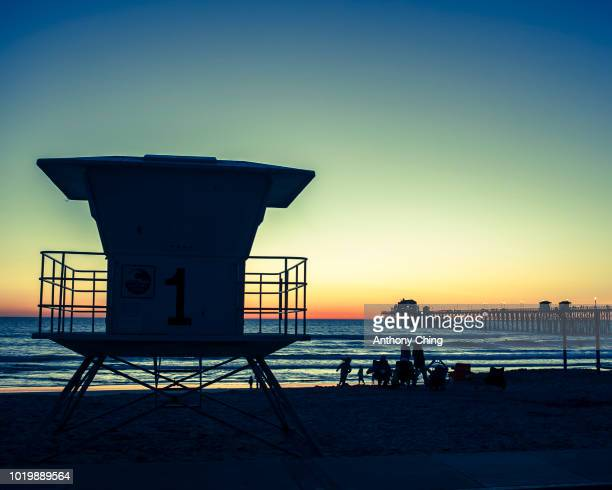 Lifeguard stand at Oceanside pier