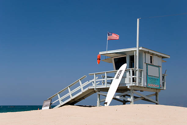 Lifeguard Station At The Beach Wall Art
