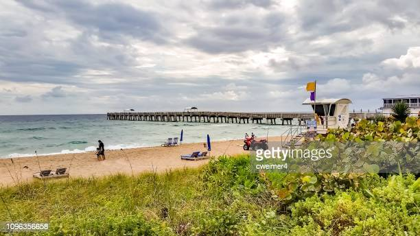 lifeguard station juno beach - juno beach florida stock pictures, royalty-free photos & images