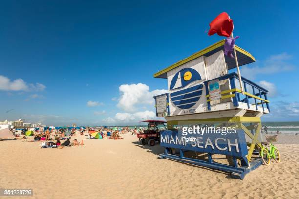 Strandwache am Atlantischen Ozean in South Beach Florida USA