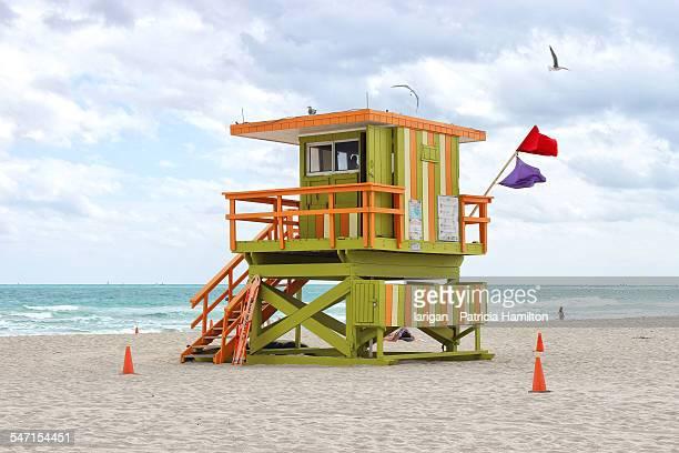 Lifeguard station, South Beach, Miami