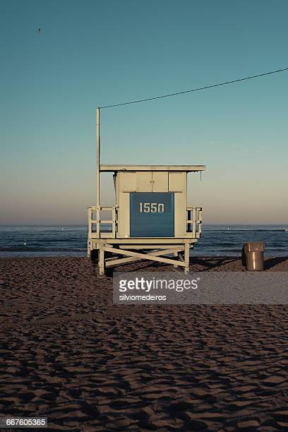 Lifeguard station, Venice Beach, Los Angeles, California, America, USA