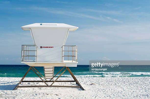 Lifeguard tower on the beach, Navarre, Florida, USA