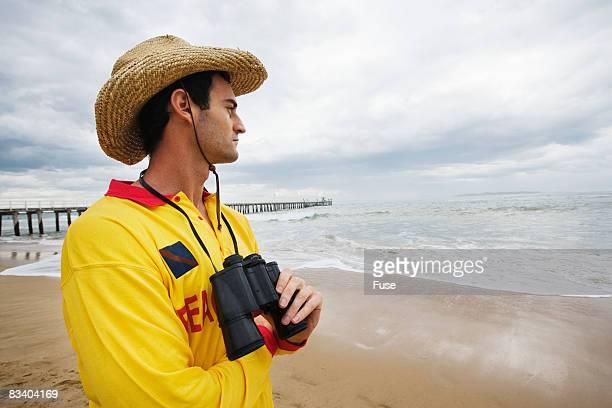 Lifeguard Watching Ocean