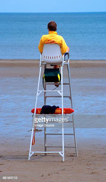 lifeguard watching - lifeguard stock pictures, royalty-free photos & images