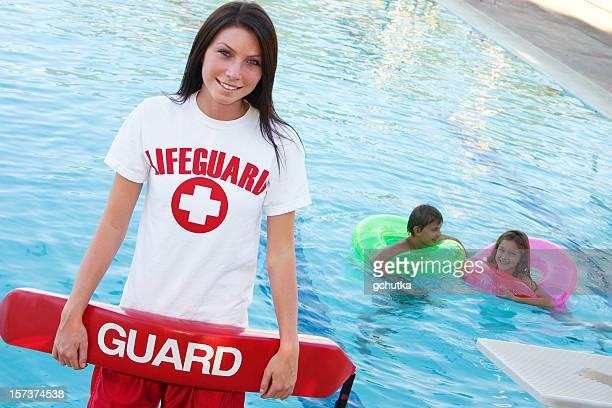 Rettungsschwimmer mit Float