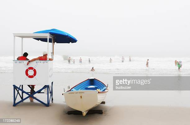 lifeguards at work - atlantic city stock pictures, royalty-free photos & images