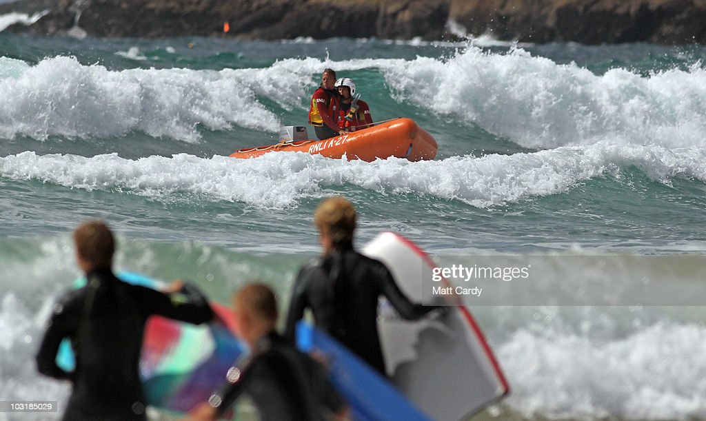 The RNLI At Work During The Busy Summer Season : News Photo