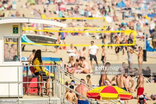 rnli lifeguards. - ボスコム ストックフォトと画像