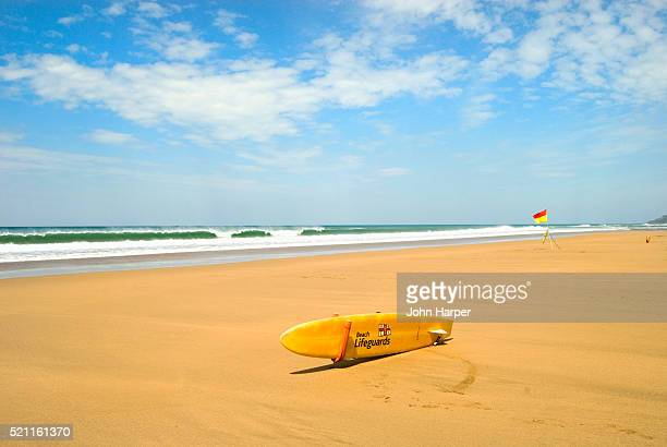 Lifeguard's Surfboard at Bude Beach