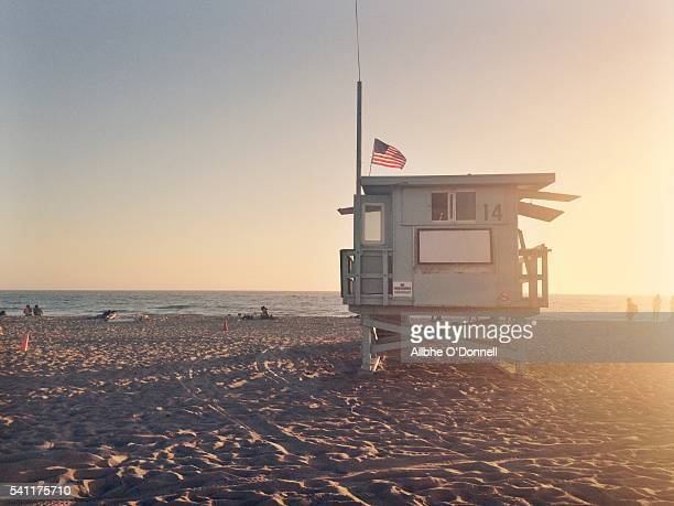 Lifeguards Tower, Santa Monica Beach, Los Angeles, California