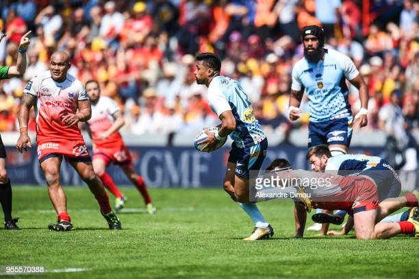 Lifeimi Mafi of Perpignan during the French Pro D2 Final match between Perpignan and Grenoble on May 6, 2018 in Toulouse, France.