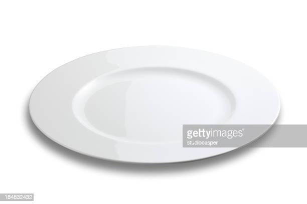 Lifeless plate on white background