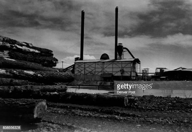 Lifeless smokestacks of a lumber mill north of town reflects the unemployment problem facing Pagosa Springs Unemployment in surrounding Archuleta...